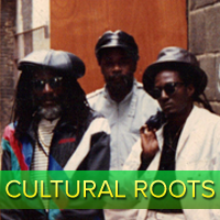 Cultural Roots has released many great tunes, particularly on the Penthouse Records Label during the 1980's.  Their messages are astutely positive and document important doctrines of Rastafari.
