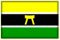 Flag for Asante Kingdom: The Asantehene sends Emissaries on matters of great importance.  A chief may be sent: once, Aduboufuor, Gyaasehene, was sent to patch up some differences which had arisen between Sem (Nsemaa) and Ahanta, and which had been referred to Asantehene.  This was successfully done, and this led to the friendship between Ahanta and Nsemaa on one hand and Asante on the other in which people from eitherside could insult those of the other without generating any bitterness.